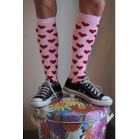 Womens Knee High Patterned Socks