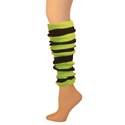 Womens Striped Leg Warmers