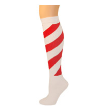 Womens Striped Swirl Knee Socks