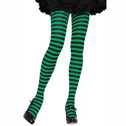 Womens Striped Tights