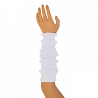 "Colored Arm Warmers - White (17"")"