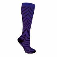 Zebra Socks - Purple with Black