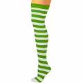 Adult Thigh High Ragdoll Socks - Green/White
