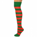 Adults Striped Knee Socks - Green/Red