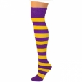 Adults Striped Knee Socks - Purple/Gold