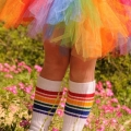 "Athletic Rainbow Striped 14"" Kids Tube Socks (Style 1)"
