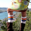 "Athletic Rainbow Striped 22"" Knee High Tube Socks (Style 2)"