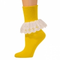 Bobbi Socks w/ Lace - Gold Yellow