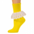 Bobbi Socks w/ Lace - Lemon Yellow