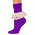 Bobbi Socks w/ Lace - Purple