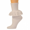 Bobbi Socks w/ Lace - White