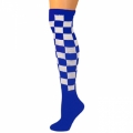 Checkered Knee Socks - Blue/White