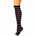 Child Thigh High Ragdoll Socks - Black/Purple