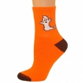 Crew Socks - Neon Orange w/ Ghost