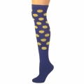 Polka Dot Knee Socks - Blue w/ Yellow Dots