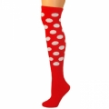 Polka Dot Knee Socks - Red w/ White Dots