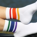 Rainbow Striped Low Cut Socks -Large (Style 3)