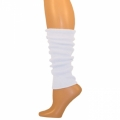 "Solid Colored Leg Warmers - White (17"")"
