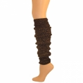 "Sparkle Leg Warmers - Black/Metallic Gold (22"")"