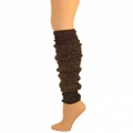 "Sparkle Leg Warmers - Black/Metallic Silver (22"")"