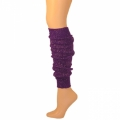 "Sparkle Leg Warmers - Purple/Metallic Gold (22"")"