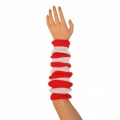 "Striped Arm Warmers - Red/White (16"")"