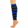 "Striped Leg Warmers - Black/Blue (22"")"