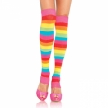 Striped Leg Warmers - Neon Rainbow