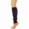 "Striped Leg Warmers w/ Welt -  Black/Purple (23"")"