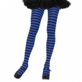 Striped Tights - Black/Blue