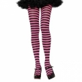 Striped Tights - Black/Fuchsia Pink