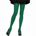 Striped Tights - Black/Green