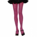 Striped Tights - Black/Hot Pink