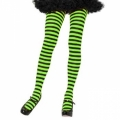 Striped Tights - Black/Lime Green