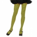 Striped Tights - Black/Yellow