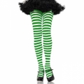 Striped Tights - White/Green